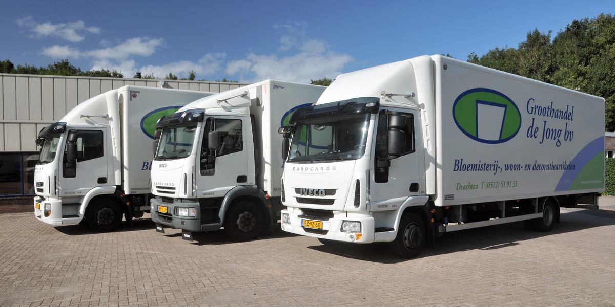 groothandel de jong vrachtwagens voorkant